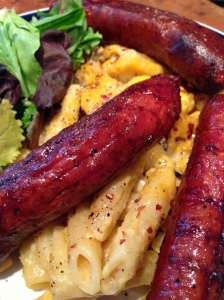 Smoked Sausage with Bacon and Cheese Mac